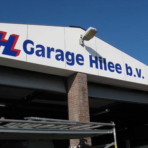 mos reclame geveltekst garage hilee