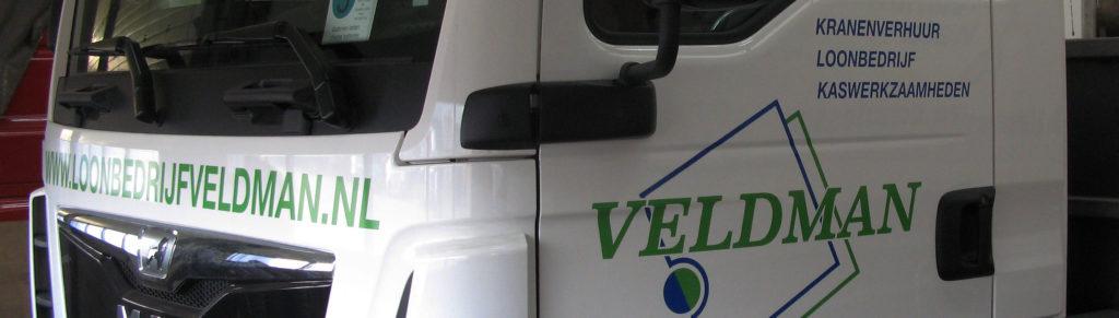 mos reclame belettering MAN vrachtwagen Loonbedrijf Veldman