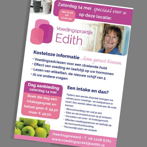 mos reclame poster voedingspraktijk edith