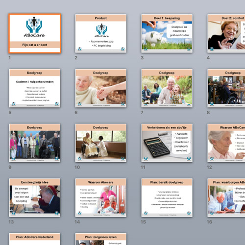 mos reclame powerpoint presentatie abocare