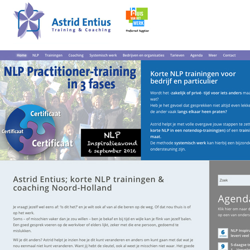 mos reclame website astrid entius training en coaching