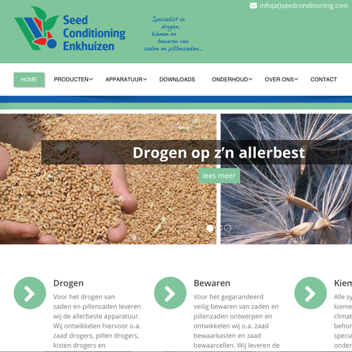 mos reclame website seed conditioning enkhuizen